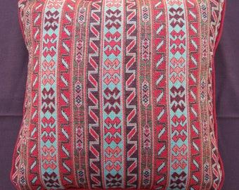 Ethnic Vintage Handmade Red Blue Kilim Pillow