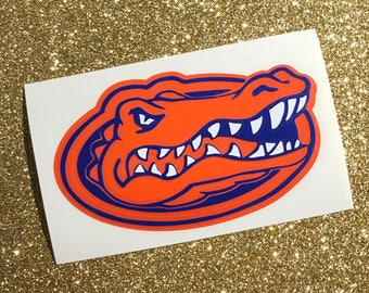 Florida Gator Decal - Gator Decal - UF Decal - UF Car Decal - UF Gator Decal