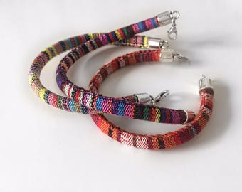 Colorful Cotton Bracelet for Summer Time