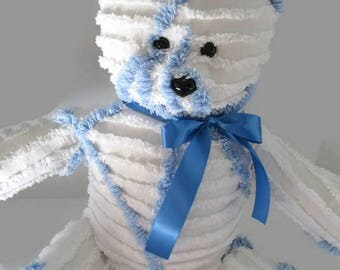 Handmade vintage chenille teddy bear- Sugar Bear