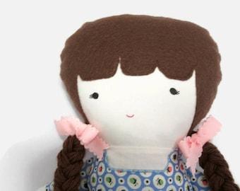 Fabric doll rag doll handmade- Kaitlyn
