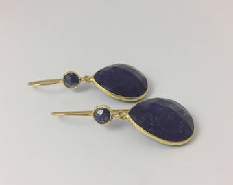 Golden Sodalite Earrings