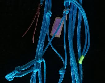 Blue rope halter/lead combo