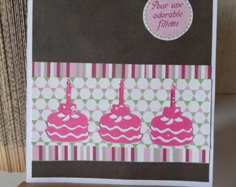 Child's birthday, girl birthday card card
