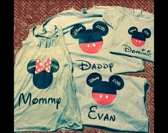 2 Disney Family Vacation T Shirts