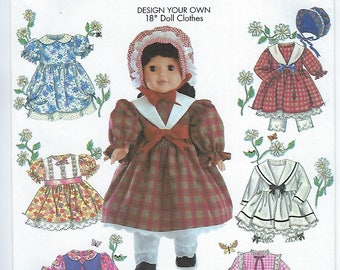 """Simplicity 5420 - 18"""" Doll Clothes"""