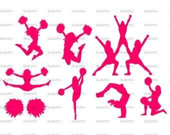 Cheerleader svg Cheer svg Cheerleading svg Football Basketball Baseball svg files for cricut svg for silhouette vector cut files svg dxf