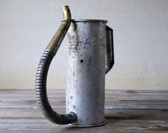 Vintage Canco Oil Can with Flexible Spout