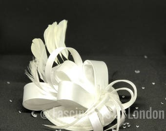 White Satin Fascinator