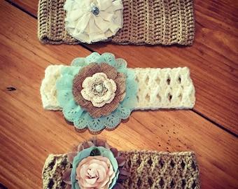 Custom Headbands With Detachable Flowers
