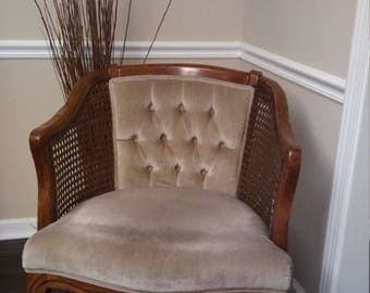 Vintage Mid Century Modern Cane Chair 60s 70s