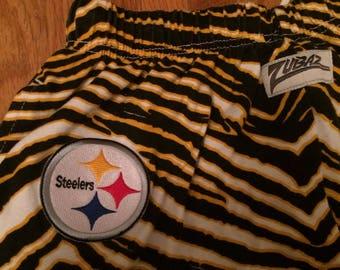 Insane 90's tiger stripe Steelers NFL zubaz pants size Medium M