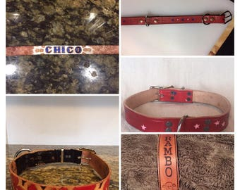 Customizable Collars and Leashes 20.00+