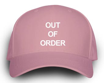 Out Of Order Dad Hat Pink