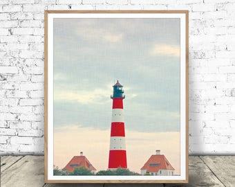 Lighthouse Art Print, Beach Print, Coastal, Beach Decor, Lighthouse Printable, Beach Print, Coastal Wall Art, Lighthouse Digital Download