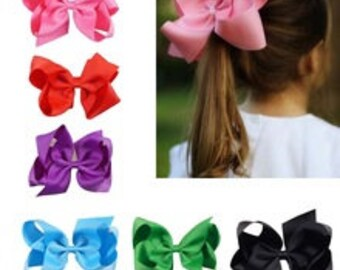 LARGE hairbow like jojo bow 6 inch bow with clip