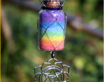 "Necklace ""Rainbow"" colored salt"