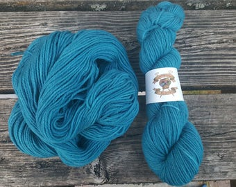 """Hand Dyed Worsted Weight Wool """"Turquoise"""""""