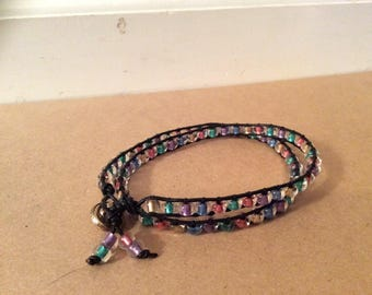 2 Wrap Beaded Bracelet