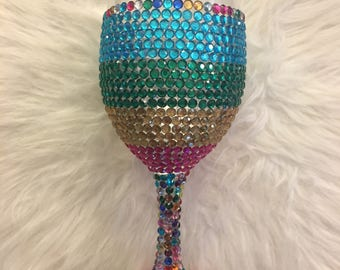 TASTE THE RAINBOW - custom wine glass