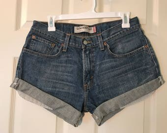 Upcycle Levi high waisted shorts!