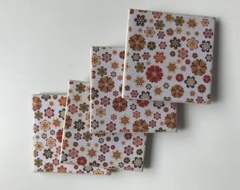 Origami tile coasters