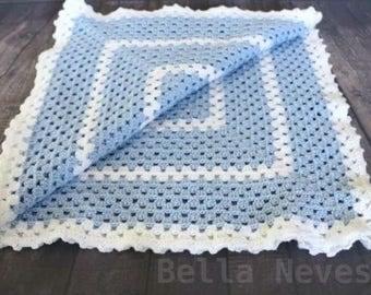 Handmade Crochet Baby Blanket (Granny Square)
