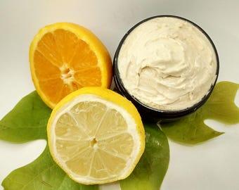 Citrus Body Butter, Citrus Lotion, Organic Body Butter, Organic Moisturizer, Body Cream, Dry Skin Moisturizer, Body Whip, Peace Organics