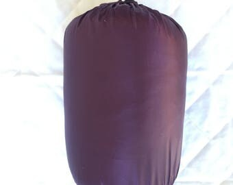 SUNSYTLE Down Throw Travel Blanket Cary Bag Camping Hiking Packable 700 Fill(purple)
