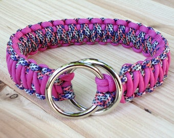 Paracord (550) King Cobra Dog Slip Ring Collar - pick your colors !!