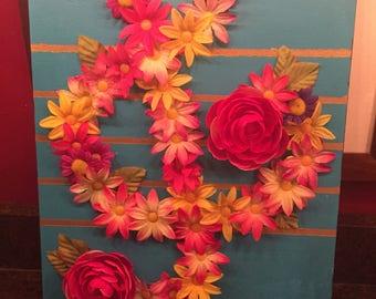 Custom Flower on Canvas