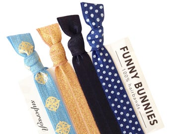 SAILING - 4 bracelets / hair ties - funnybunnies supersoft