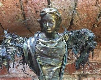 Our beautiful hand made sculpture, Angel Gabriel.