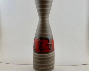 Mid Century Modern West German Vase 1219-30 Carstens Tonnieshop