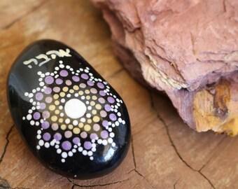Painted rocks, Mandala rocks, Mandala stone, Rock art, Meditation rocks, Yoga gift, Mandala Art, Unique gift for her, Boho chic, Bohemian