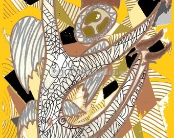 Bouncing angel (yellow)
