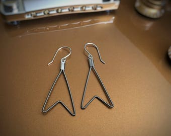 Chevron Guitar String Earrings