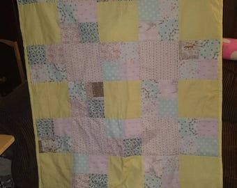 Handmade Throw Quilt Lap Quilt 50 x 40