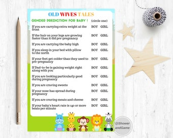 Baby Shower Baby Old Wives Tales Game Zoo | Animals Baby Shower Old Wives Tales | Animal Old Wives Tales