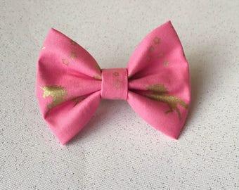 Pink unicorn bow
