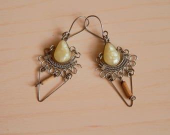 Handmade Peruvian Bead Earrings