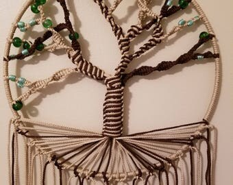 Tree of life macrame wall hanging