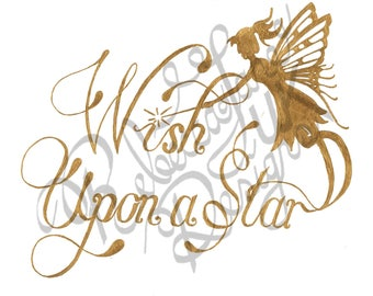Hand Drawn Calligraphy // Calligraphy Present // Art Words // Wish Upon a Star