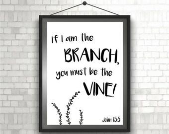 Verse Printable Branch & Vine