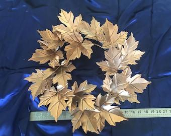 "19"" Copper Maple Leaf Wreath"