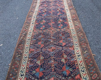 Antique Persian Kurdish Oriental Runner Rug  rr2941
