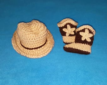 Crochet Cowboy Hat and Cowboy Boots