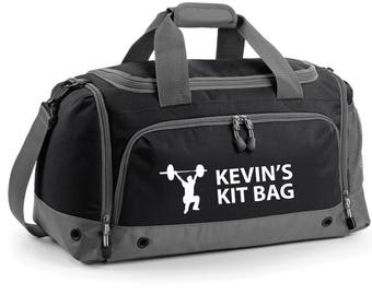 iLeisure High Weight Lifting Holdall with your Name/Club Holdall Printed Kit Bag.