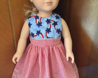 "Patriotic Dress for 18"" Dolls"