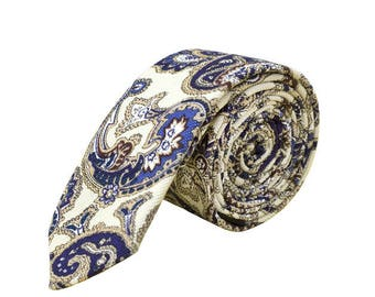 de MORÉ - rejected gold & blue tie